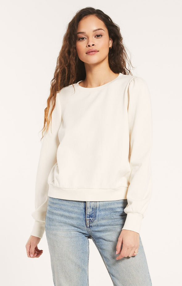Zoe Bone Sweatshirt- Z Supply