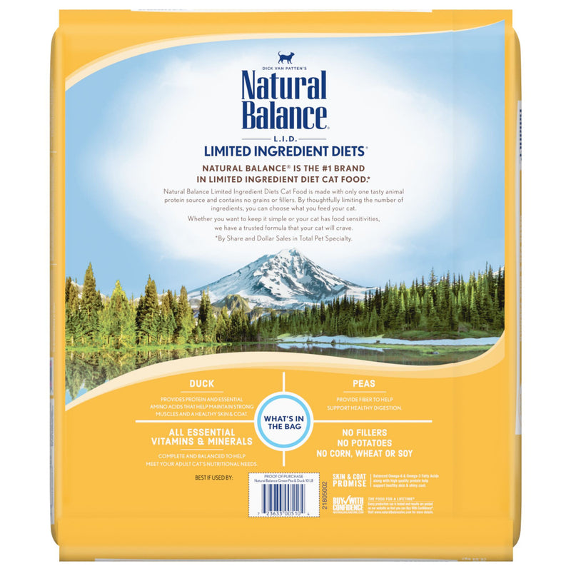 Natural Balance L.I.D. Limited Ingredient Diets Green Pea & Duck Dry Cat Food