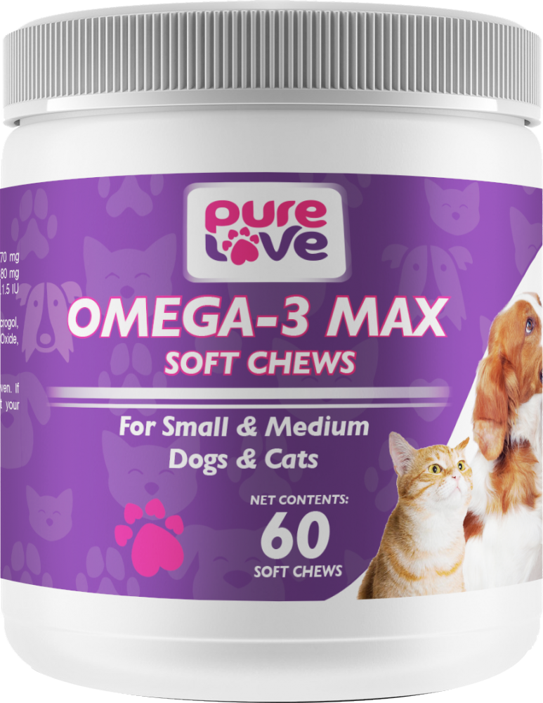 Pure Love Omega-3 Max Soft Chews for Small and Medium Dogs and Cats