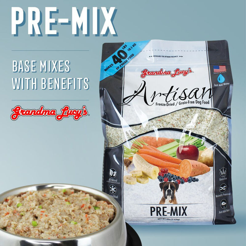 Grandma Lucy's Artisan Grain Free Premix Freeze Dried Dog Food