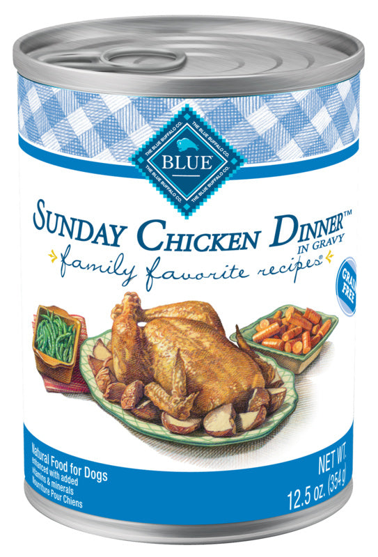 Blue Buffalo Family Favorite Sunday Chicken Dinner Canned Dog Food
