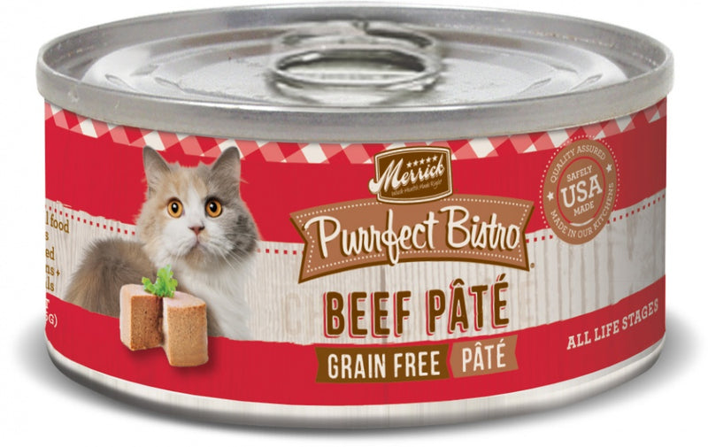 Merrick Purrfect Bistro Beef Pate Grain Free Canned Cat Food