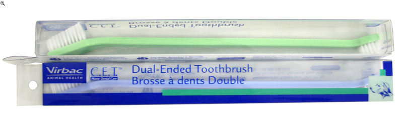 Virbac C.E.T. Dual Ended Pet Toothbrush for Cats and Dogs
