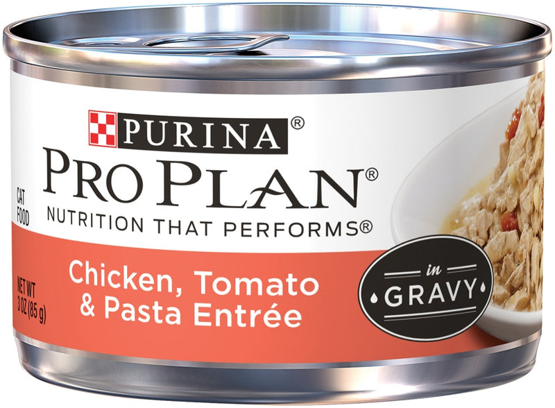 Purina Pro Plan Savor Adult Chicken, Tomato & Pasta Entree in Gravy Canned Cat Food