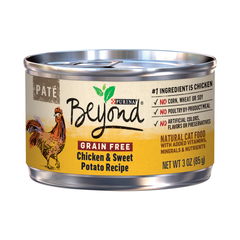 Purina Beyond Grain-Free Chicken & Sweet Potato Pate Recipe Canned Cat Food