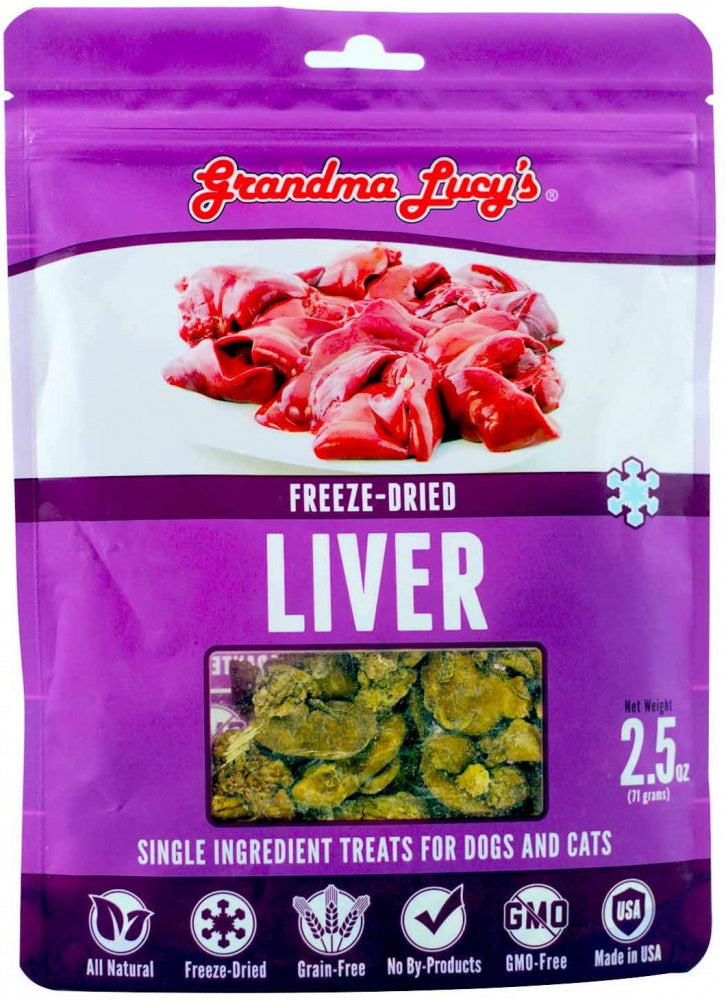 Grandma Lucy's Singles Freeze Dried Liver Single Ingredient Pet Treats