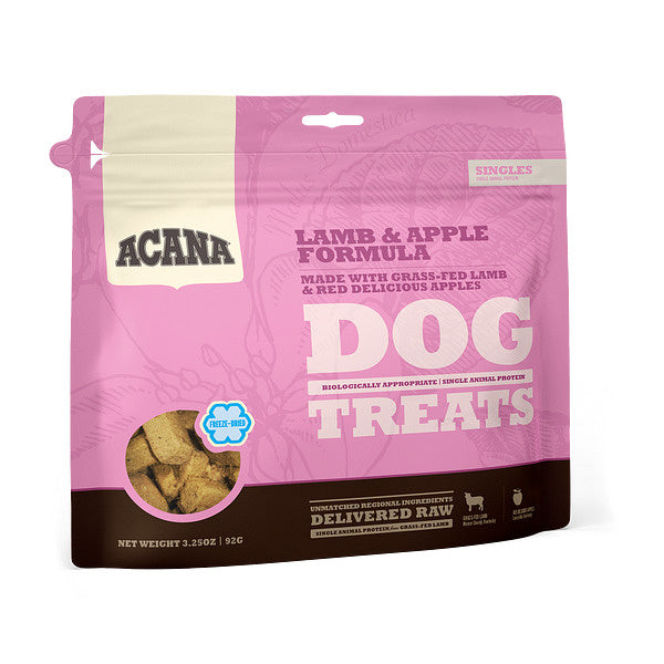 ACANA Singles Grain Free Limited Ingredient Diet Lamb & Apple Formula Dog Treats
