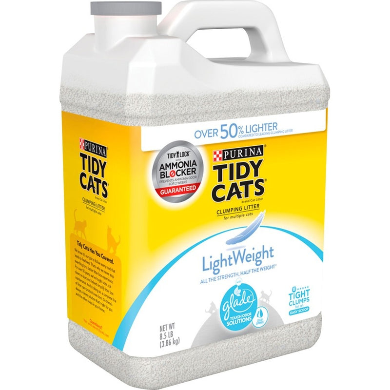 Tidy Cats Clear Springs Scent LightWeight Glade Tough Odor Solutions Clumping Cat Litter