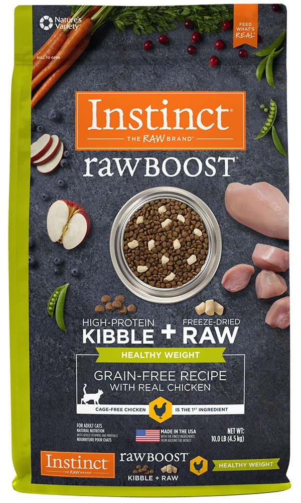 Instinct Raw Boost Healthy Weight Adult Grain Free Recipe with Real Chicken Natural Dry Cat Food