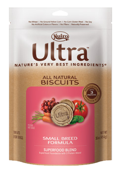 Nutro Ultra All Natural Biscuits Superfood Blend Small Breed Formula Dog Treats