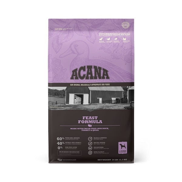 ACANA Feast Formula Grain Free Dry Dog Food