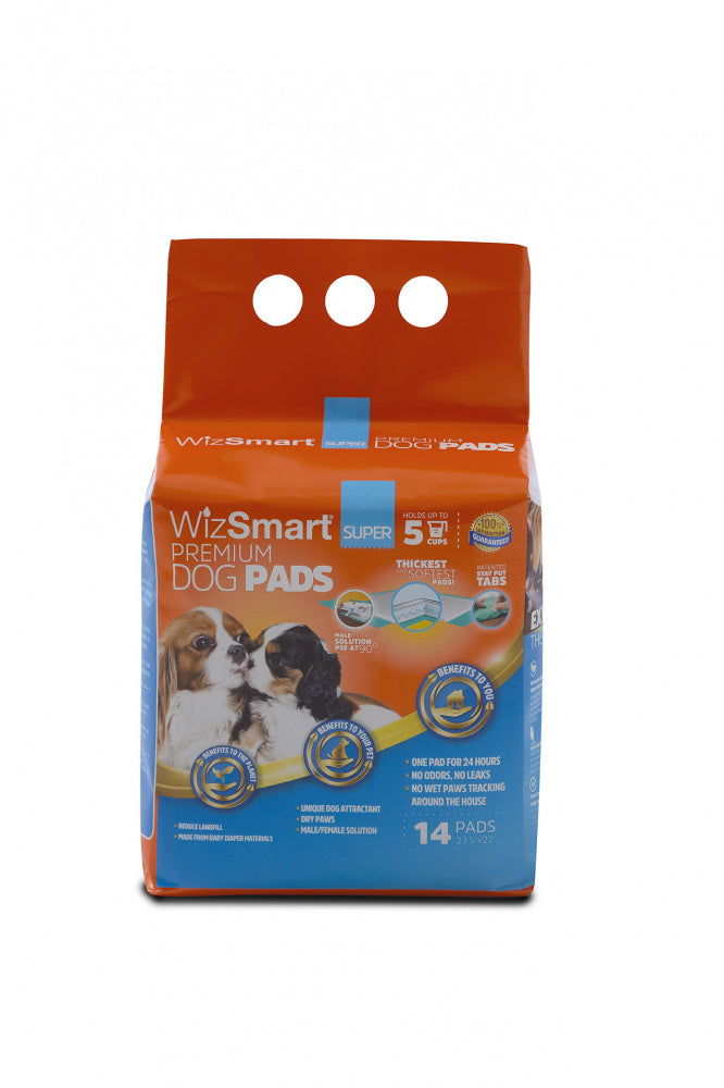 WizSmart Super All Day Dry Premium Dog Pads