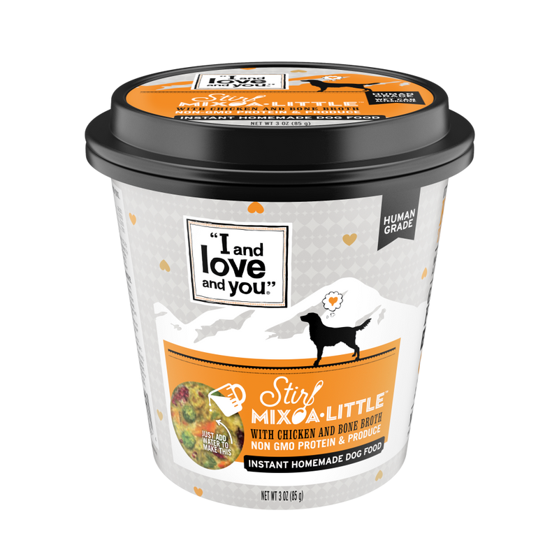 I and Love and You Stir-Mix-A-Little Chicken & Bone Broth Instant Home Made Dog Food