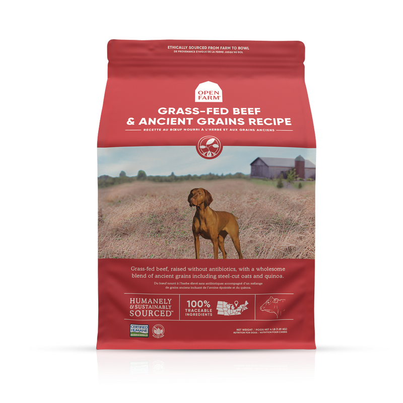 Open Farm Grass-Fed Beef & Ancient Grains Dry Dog Food
