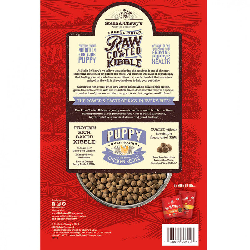 Stella & Chewy's Raw Coated Kibble Cage Free Chicken Recipe Puppy Dry Dog Food