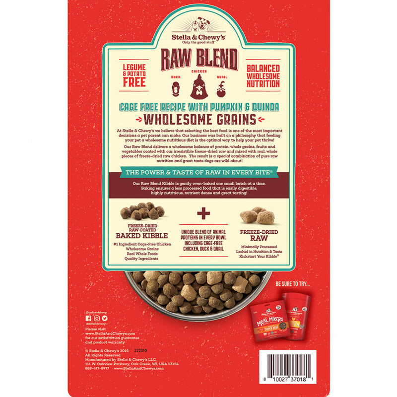 Stella & Chewy's Raw Blend Kibble With Wholesome Grains Cage Free Recipe Dry Dog Food