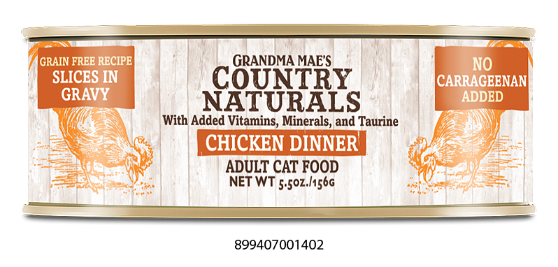 Grandma Mae's Country Naturals Grain Free Chicken Dinner in Gravy for Cats
