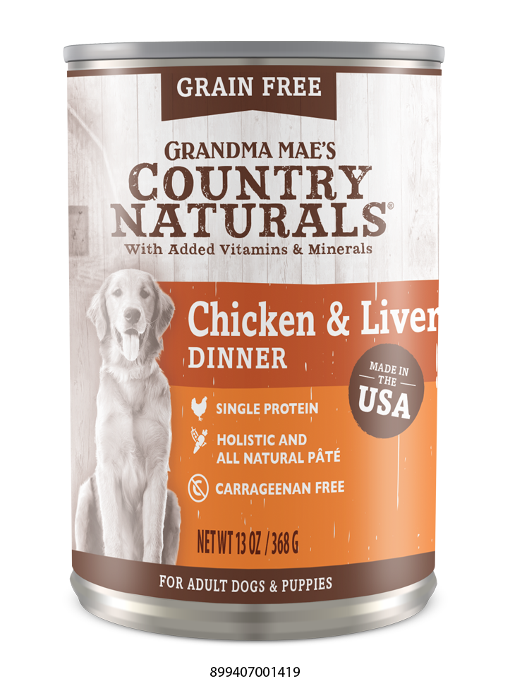 Grandma Mae's Country Naturals Grain Free Chicken & Liver for Dogs & Puppies