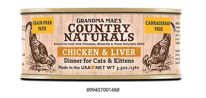 Grandma Mae's Country Naturals Grain Free Chicken & Liver Dinner Food for Cats