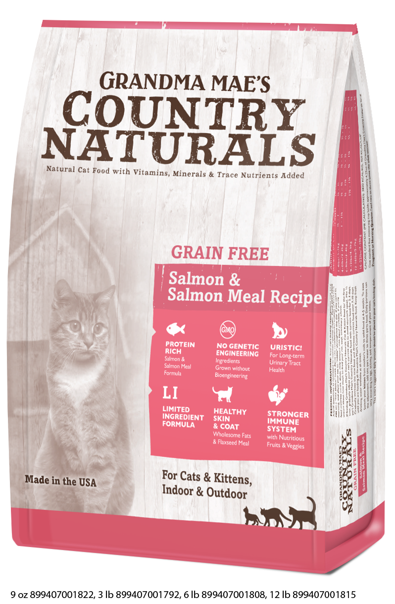 Grandma Mae's Country Naturals Grain Free Salmon Meal Dry Food for Cats