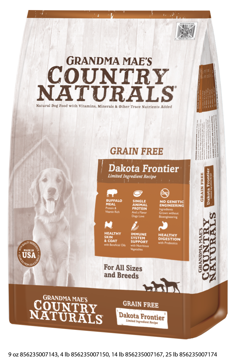 Grandma Mae's Country Naturals Grain Free Dakota Frontier Buffalo Meal Recipe
