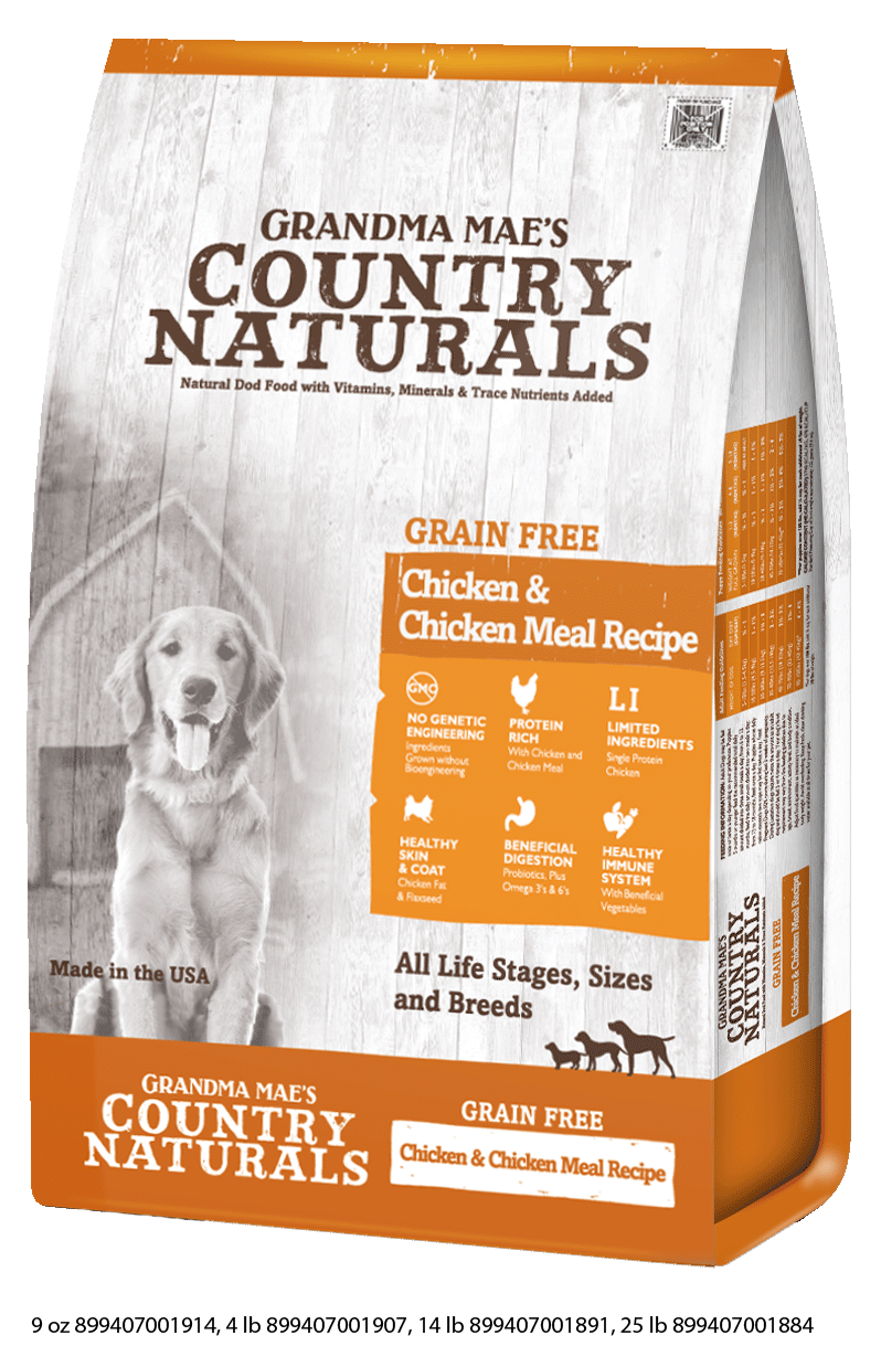 Grandma Mae's Country Naturals Grain Free Chicken Limited Ingredient Dry Food for Dogs