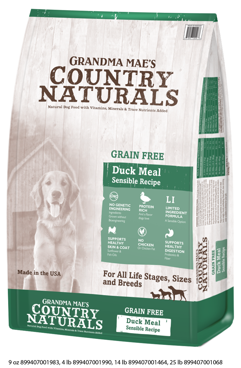 Grandma Mae's Country Naturals Grain Free Duck Meal Dry Food for Dogs