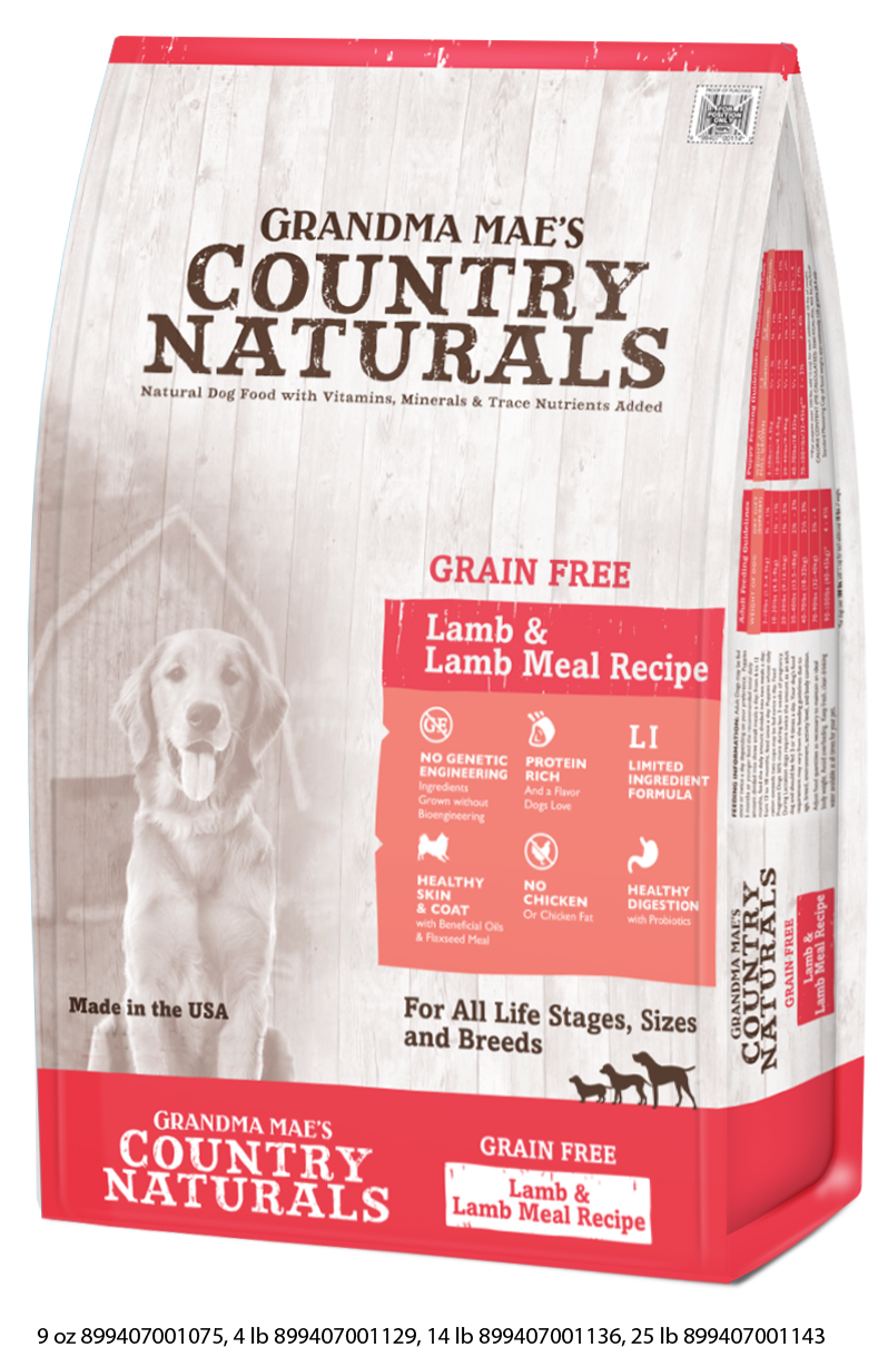 Grandma Mae's Country Naturals Grain Free Lamb & Lamb Meal Dry Food for Dogs