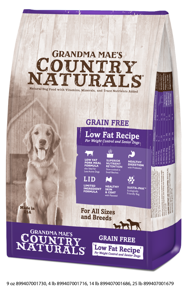Grandma Mae's Country Naturals Grain Free Low Fat Dry Food for Dogs
