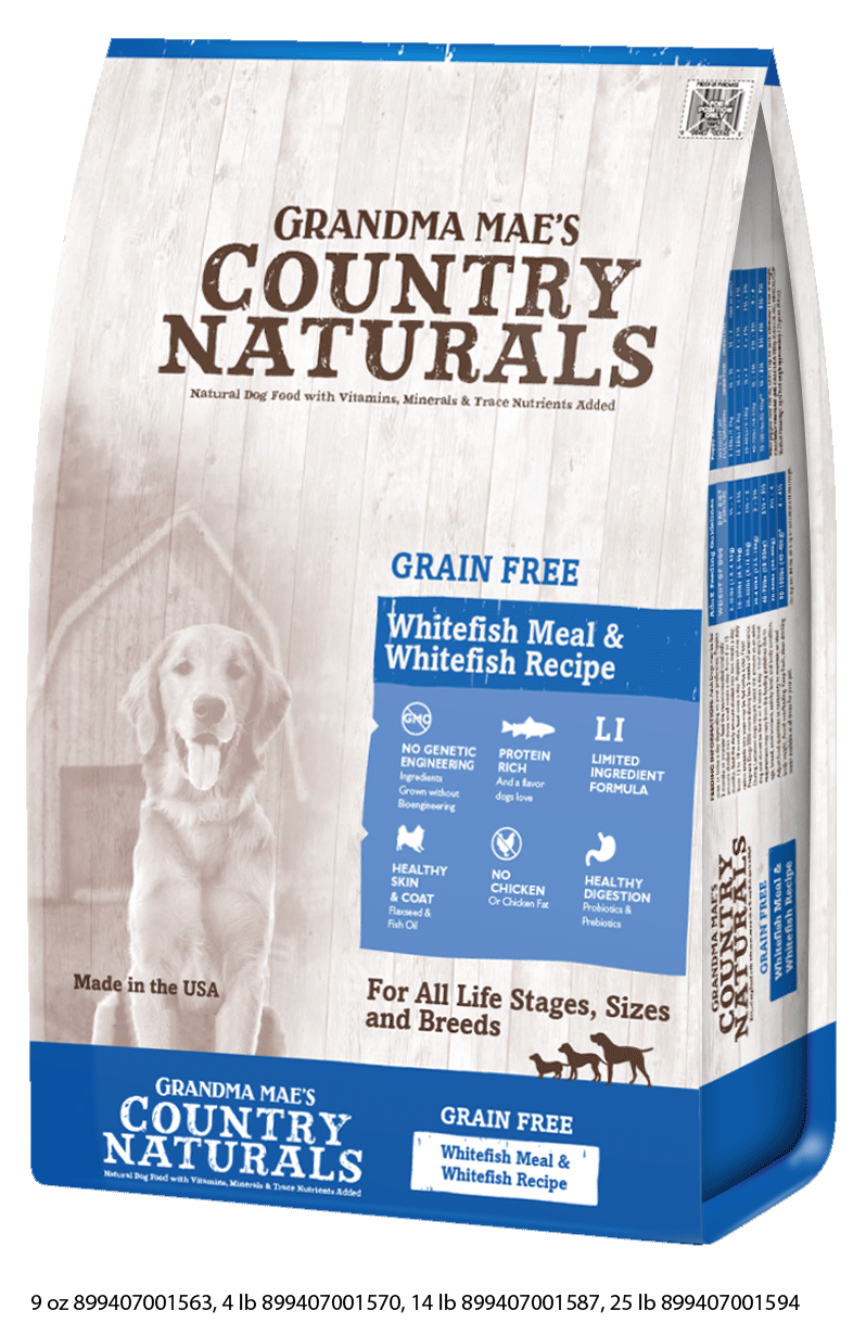 Grandma Mae's Country Naturals Grain Free Fish Dry Food for Dogs
