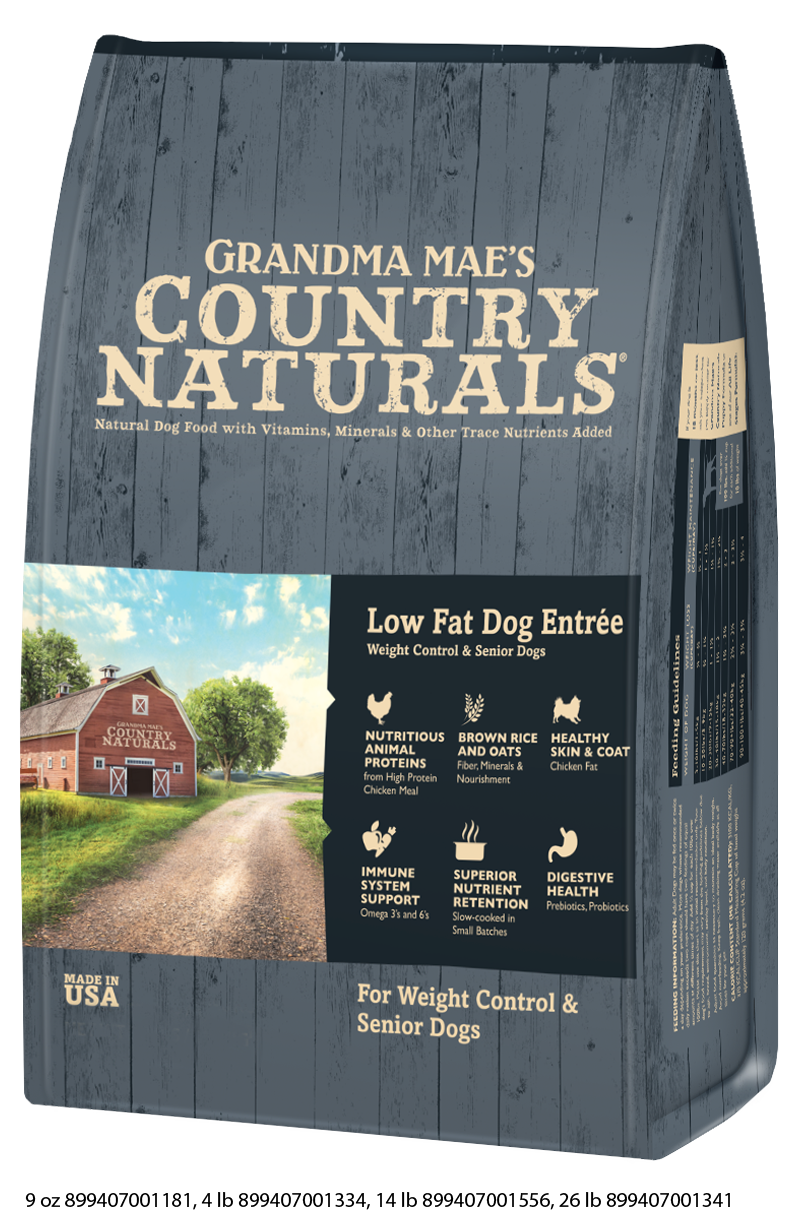 Grandma Mae's Country Naturals Low Fat Formula For Dogs