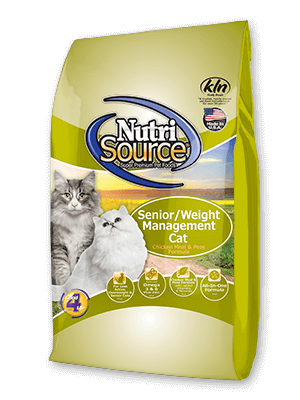NutriSource Senior Weight Management Chicken & Rice Dry Cat Food