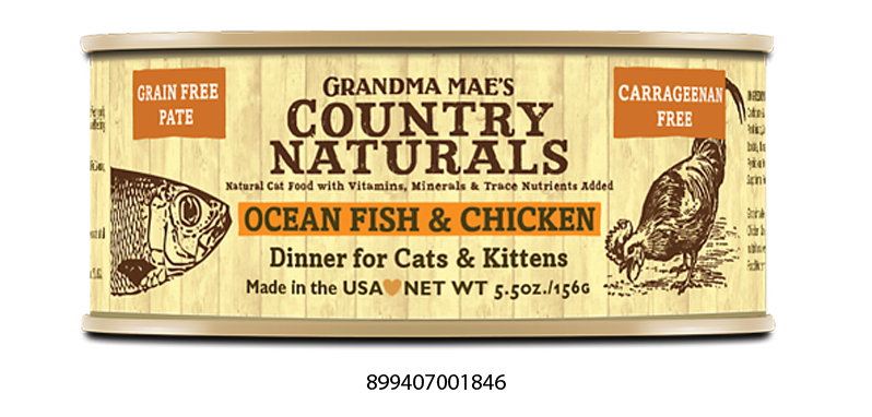 Grandma Mae's Country Naturals Grain Free Ocean Fish & Chicken Food for Cats