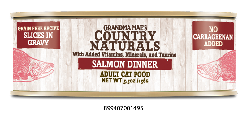 Grandma Mae's Country Naturals Grain Free Salmon Dinner in Gravy Food for Cats