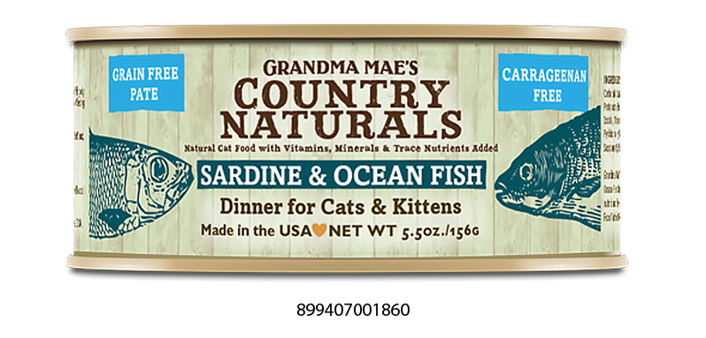 Grandma Mae's Country Naturals Grain Free Sardine & Ocean Fish Dinner Food for Cats