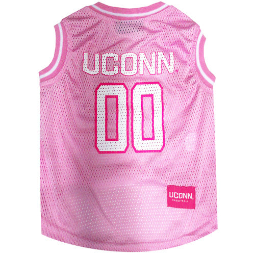 Connecticut Huskies Pink Mesh Basketball Jersey