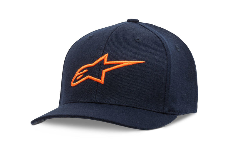 Curve Hat Navy/Orange Lg/Xl L/Xl Alpinestars 1017-81010-7032-L/Xl