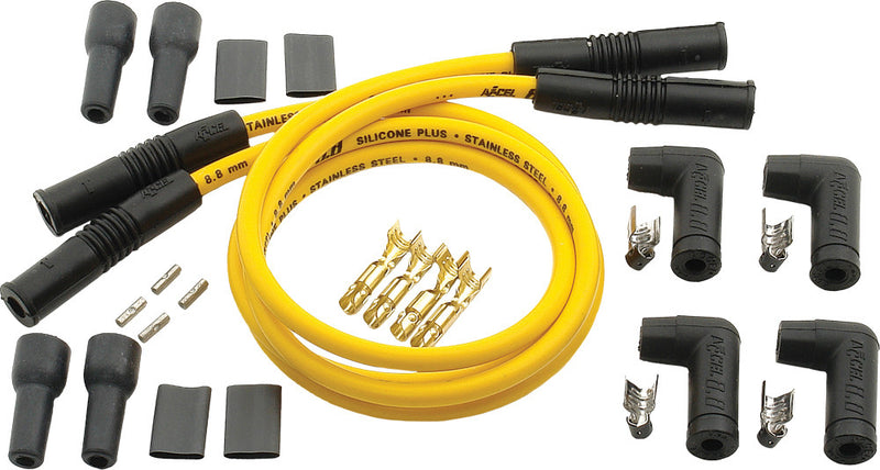 ACCEL 4 PLUG WIRE SET 8.8MM YELLOW 170082