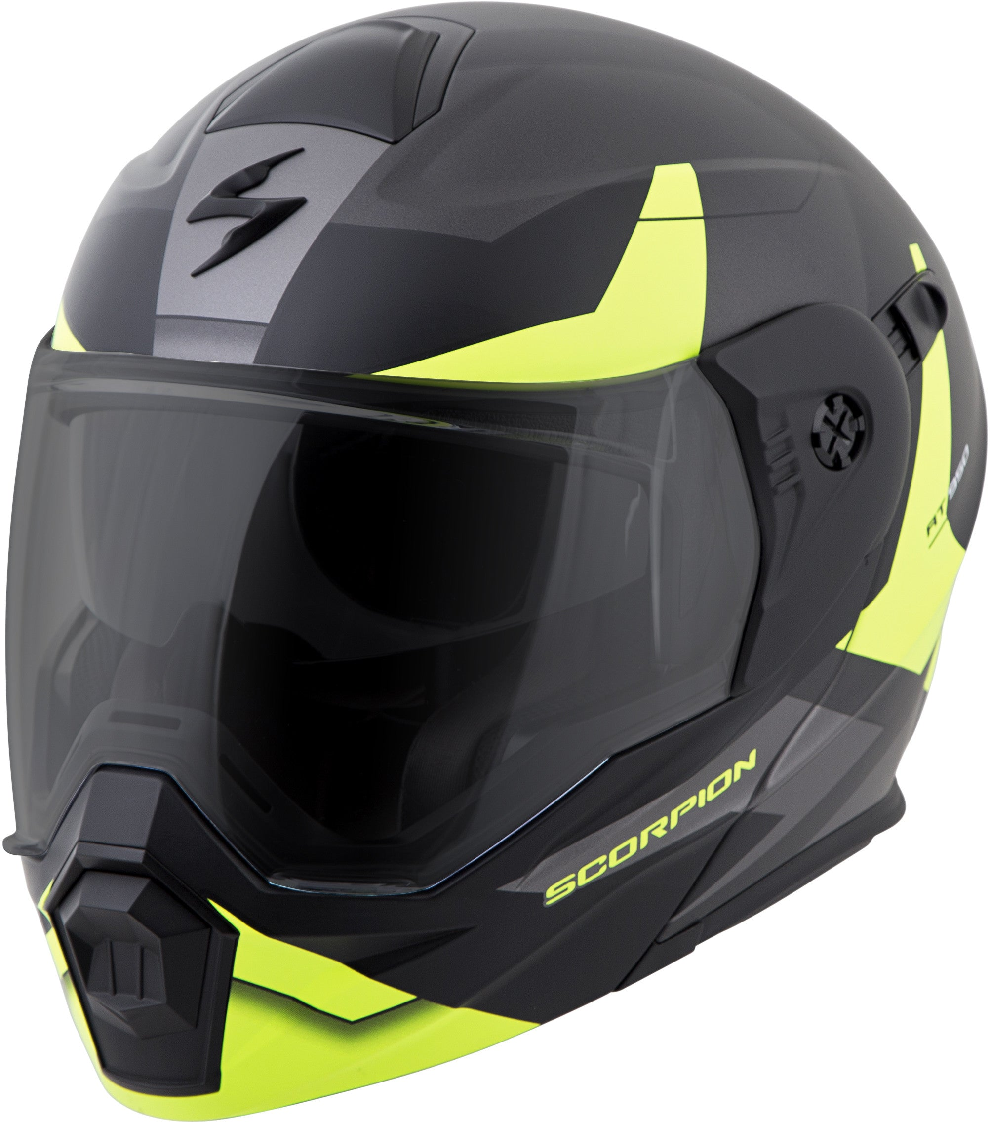 Scorpion Sports, Inc Exo-At950 Cold Weather Helmet W/Dual Pane Shield Hi-Vis - Scorpion Sports - Motorcycle Dot