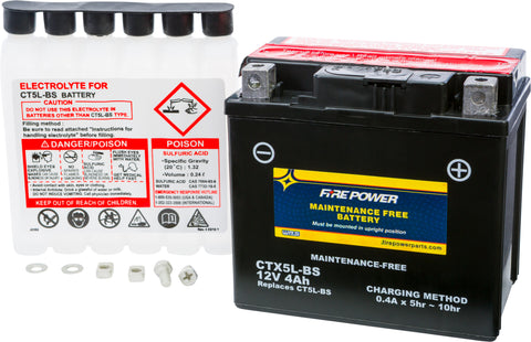 MAINTENANCE FREE BATTERY CTX5L-BS Fire Power CTX5L-BS