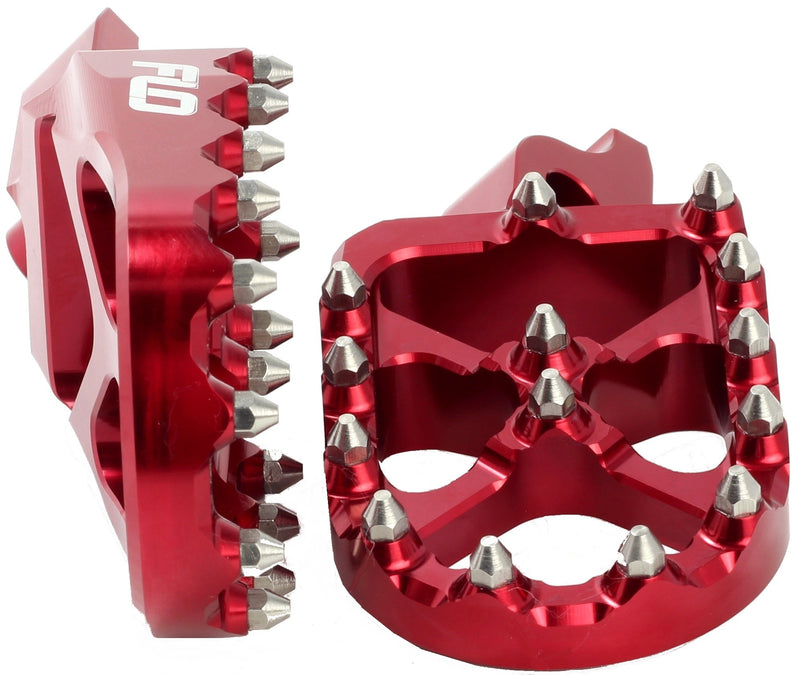 Pro Series Foot Pegs Red Kaw/Hon  Flo Motorsports Fpeg-792R