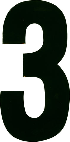Dirt Digits Number Plate Background 3 Pack White BG3WHT