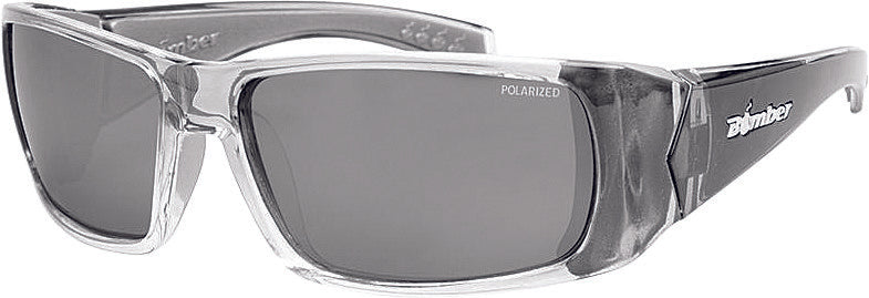 Pipe Bomb Sunglasses Smoke W/Silver Mirror Polarized Bomber Eyewear Pb114