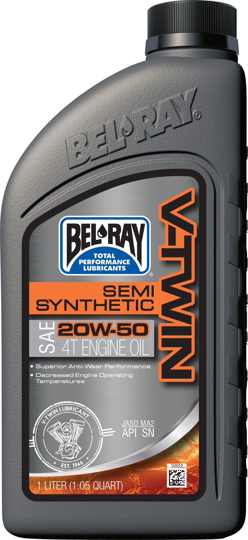 V-Twin Semi-Synthetic Engine Oil 20W-50 1L  Bel-Ray 96910-Bt1