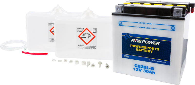 12V Heavy Duty Battery W/Acid Cb30L-B Fire Power Cb30L-B