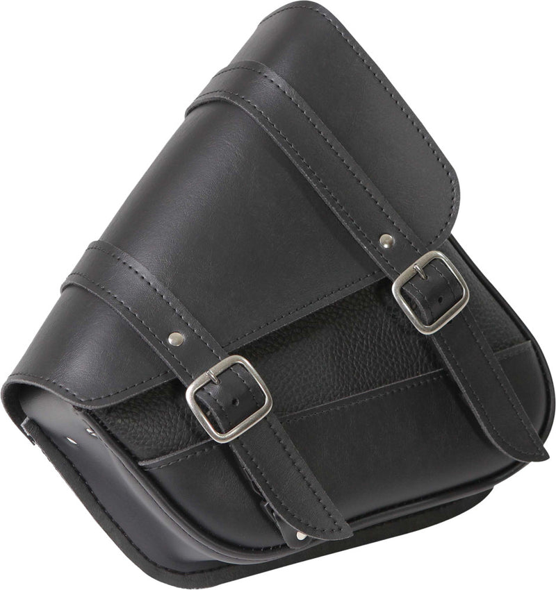 "BLACK SYN LEATHER SWINGARM BAG 10.5"" X 11.5"" X 4.5"" Willie & Max 59778-00"