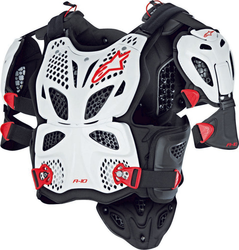 Alpinestars A-10 Full Chest Protector White/Black/Red M/L 6700517-213-ML