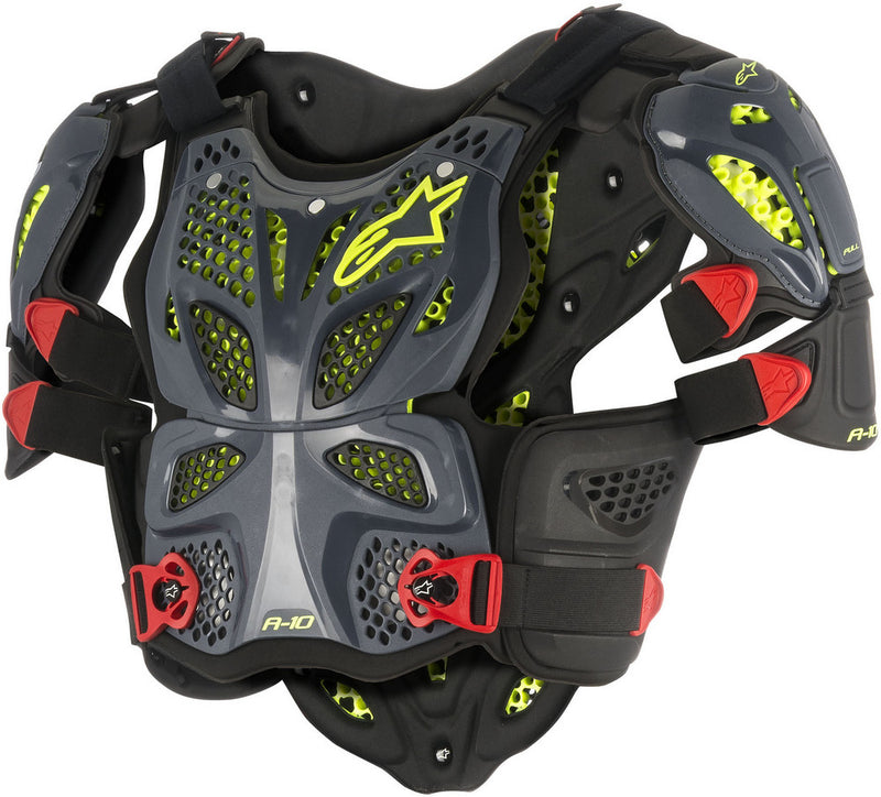 Alpinestars A-10 Full Chest Protector Anthracite/Red Xs/S 6700517-1431-XS/S