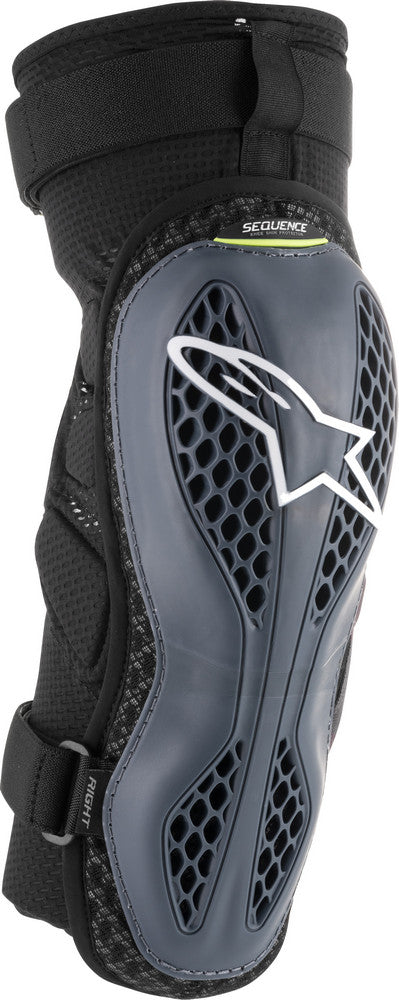 Alpinestars Sequence Knee Protectors Anthracite/Yellow Lg/Xl 6502618-145-M