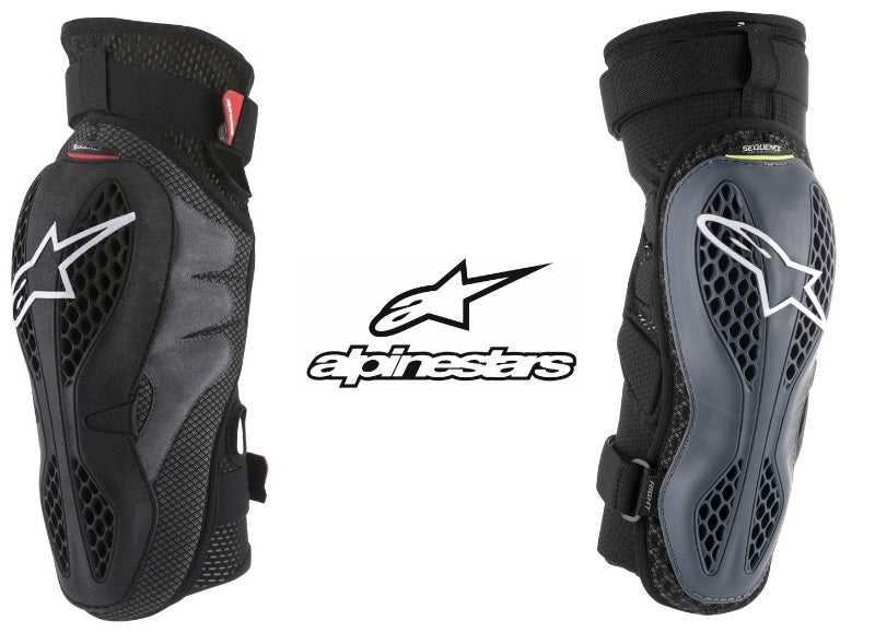 6502618-13-S//M Sm//Md Alpinestars Sequence Knee Protectors Black//Red